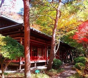 塩原温泉 天皇の間記念公園の紅葉がキレイ
