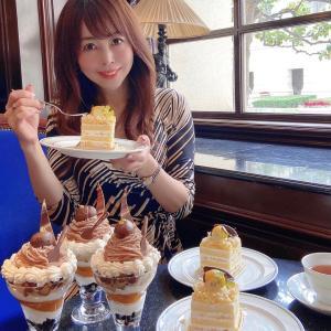 ☆【11/1~期間限定】和栗を存分に楽しめるショートケーキとパフェ☆ホテルニューグランド☆