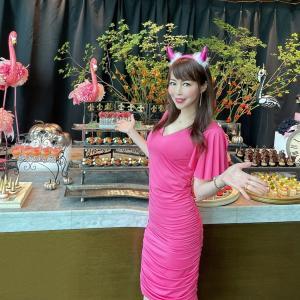 ☆妖美な2つの世界が入り混じる「ピンク&シャドウ」ハロウィーンスイーツビュッフェ☆