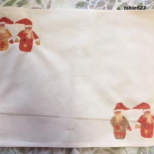 クリスマス用のランチョンマットをデコパージュで