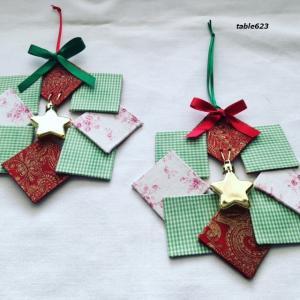 カルトナージュのクリスマスリースをプレゼント
