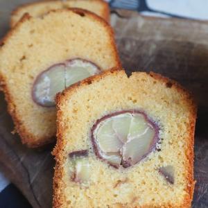 栗の渋皮煮入りバターケーキ