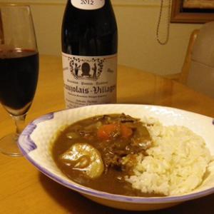 カレーライスと赤ワイン