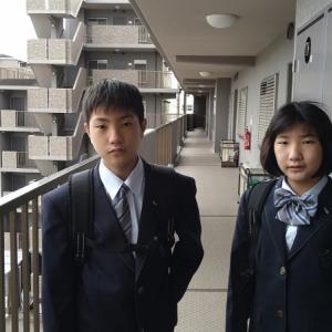 こっちゃん&ぼん、中学校の入学式