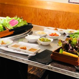 野菜食べ放題のサムギョプサル