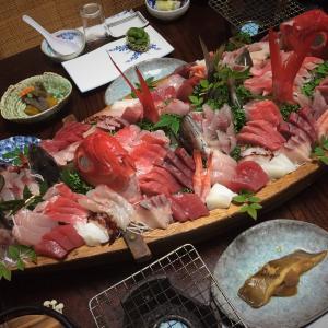千葉 勝浦 民宿 まぐさ 12月3日のお刺身です
