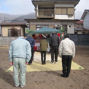 上田市常磐城にてT様邸の地鎮祭