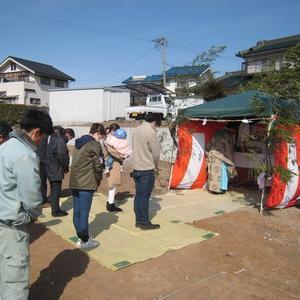 東御市県にて地鎮祭