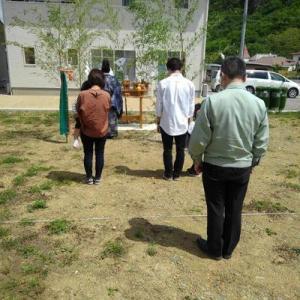 長和町にて、地鎮祭を執り行いました。