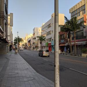 那覇市の朝の様子
