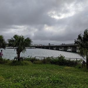 雨のち曇りの沖縄であります