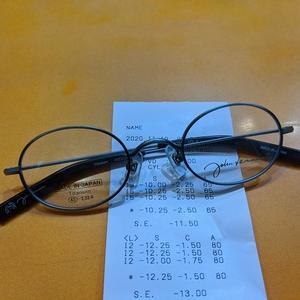 超強度の眼鏡をジョンレノンフレームで作る