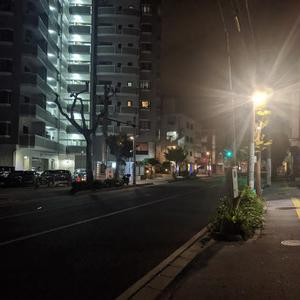 静かな夜の沖縄那覇