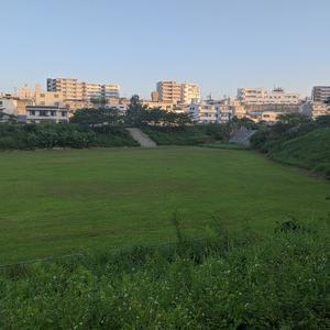雲一つない今朝の沖縄の空