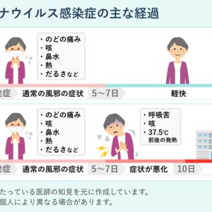 コロナウィルスとの闘い日誌(ついに発症!)