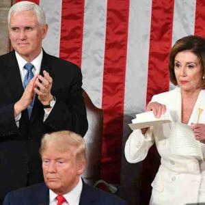 トランプ大統領の一般教書演説で珍事 ペロシ下院議長は終了後に原稿破る