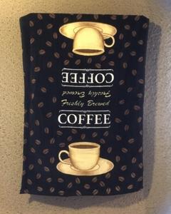 COFFEEの大判タオル。