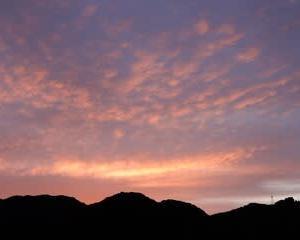 秋の空・・・夕焼け