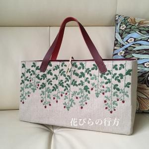 薔薇の実を刺繍したバッグ~ずっと未完成