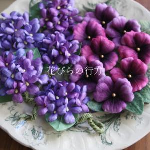 イベント準備でワサワサたくさん布花を咲かせています^^