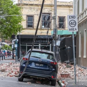 メルボルン近くでM6の地震