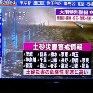 恐怖の台風19号(スーパー台風)
