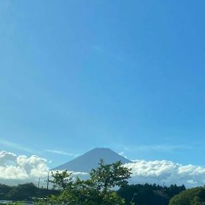 富士山と夕焼け雲