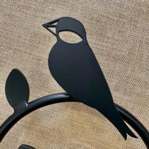 文鳥とインコの壁飾り