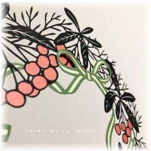 切り絵 No.294(クリスマスリース)