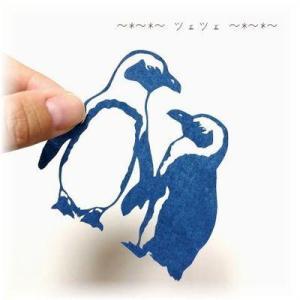 切り絵 No.286(水族館うちわ)