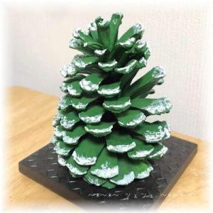 松ぼっくりのシンプルクリスマスツリー
