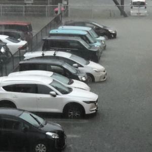 我が家も大雨の影響で・・・