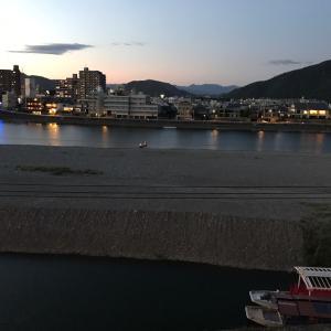 夕暮れの長良川