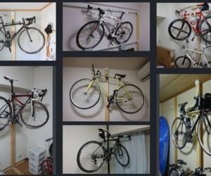 自転車収納ラックを DIYで作りました。