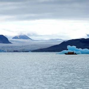 海氷の青がきれい