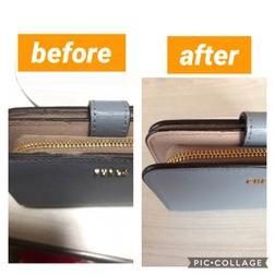 財布修理 フルラ財布修理 コバ(フチ周りの塗料)塗り直し