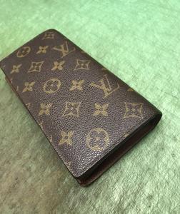 ルイヴィトンモノグラム財布 ほつれ縫い&コバ塗