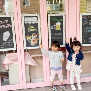【ママ会】ピンクで可愛すぎなキッズスペース付きカフェ