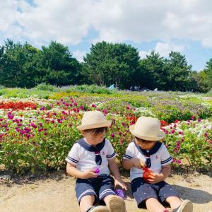 双子コーデで公園へ♡