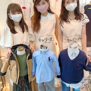 子供服のショップと大人服購入品