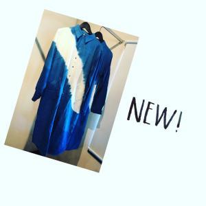【new item】藍染手染めシャツワンピース