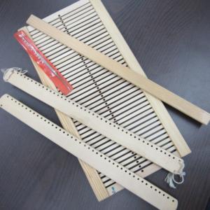 お友達のお母様から譲り受けた織り道具はこちら+青森Kさんの裂き織りバッグは相変わらず最高でっす!