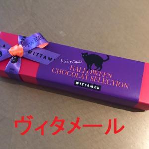 ヴィタメール・ハロウィンバージョンのチョコレート+某試作で、段染め糸でたて糸を掛けたところです!