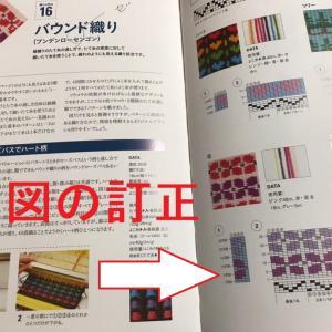 今頃ですが『手織り大全』のバウンド織りの図のミスを発見!!千葉のMさんご指摘ありがとうございます