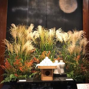 今日は中秋の名月+満月だそうですよ!!+M子ちゃんの仕立てミニバッグはすでに完成しております!!