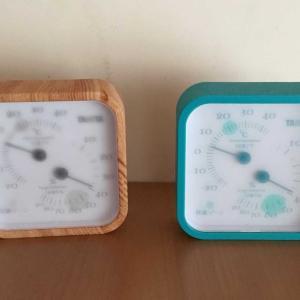 温湿度計を確認