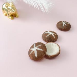 【正月飾り】粘土で作る、しいたけっ。・・・・☆