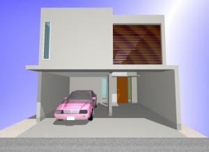 間口の狭い家