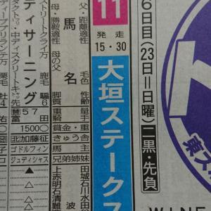 明日の中京競馬場11Rは…。
