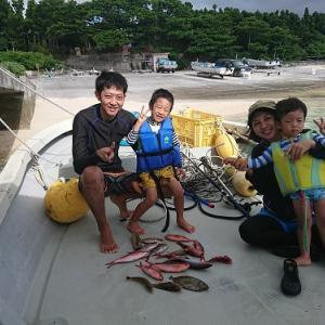 宿泊&船釣りとボートスノーケリングプランでお越し頂きました